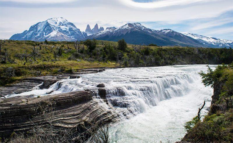 chile patagonia waterfall