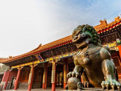china beijing summer palace lion statue istk