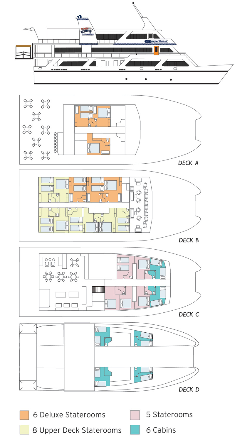 coral expeditions 1 deck plan