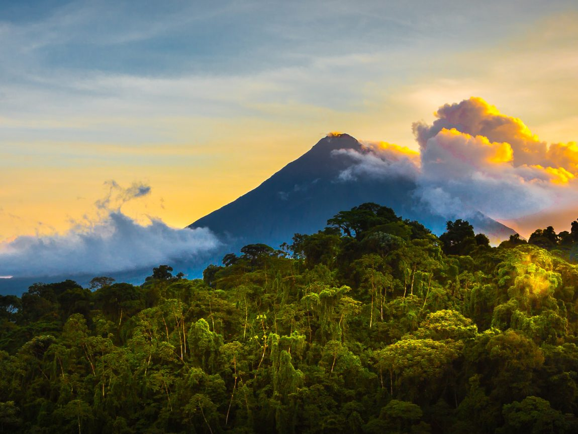 costa rica arenal volcano sunrise adstk