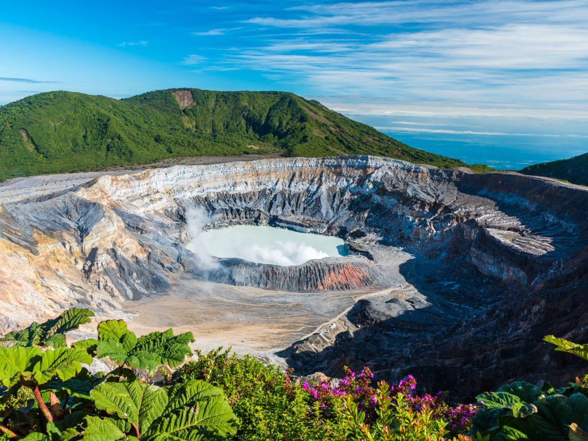 costa rica poas volcano in sunshine istk