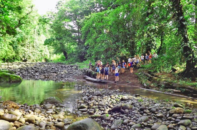 costa rica students river