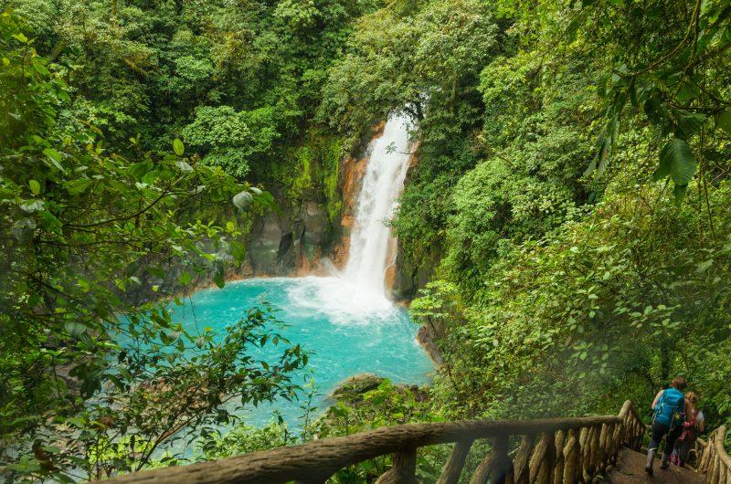 costa rica tonorio volcano national park rio celeste waterfall istk