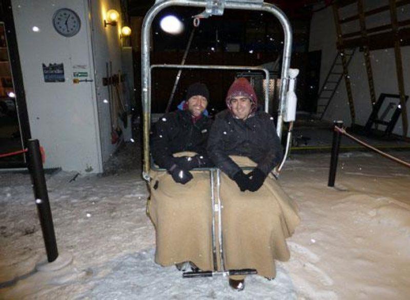 icehotel blog doug dinner chairlift