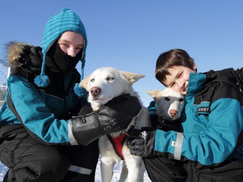 icehotel family husky William Gray Lapland