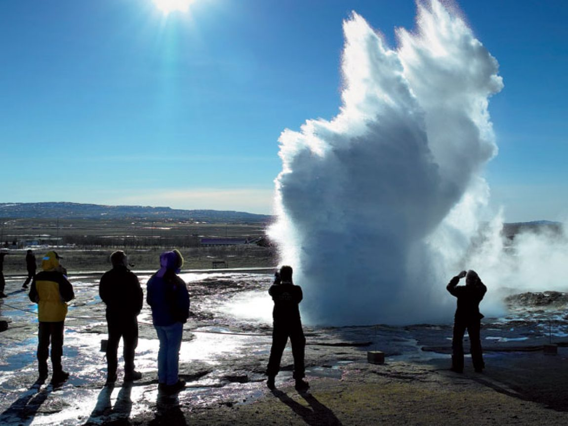 iceland golden circle strokkur erupting rth