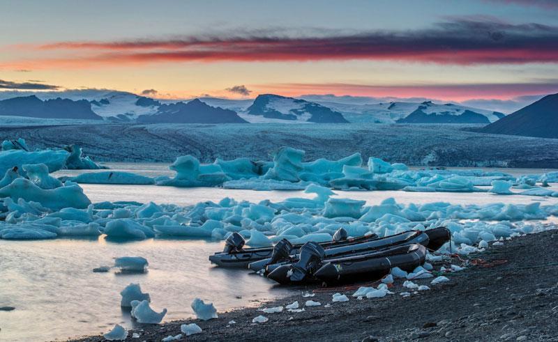 iceland jokulsarlon at dusk rth
