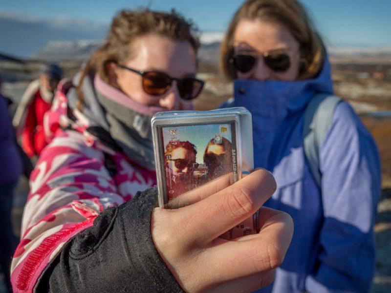 iceland student visit selfie