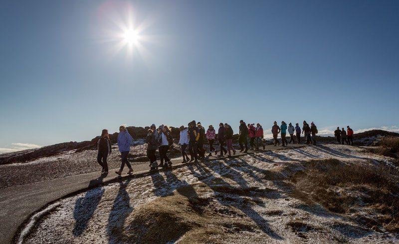 iceland thingvellir national park students rth