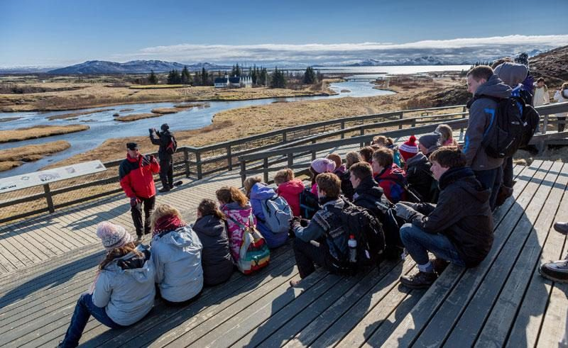 iceland thingvellir national park talk by guide