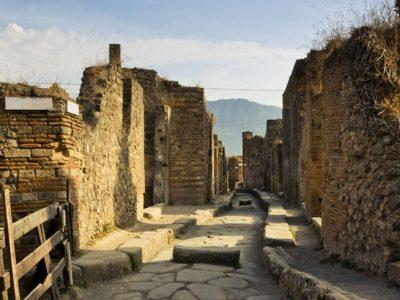 italy bay of naples pompeii street istock