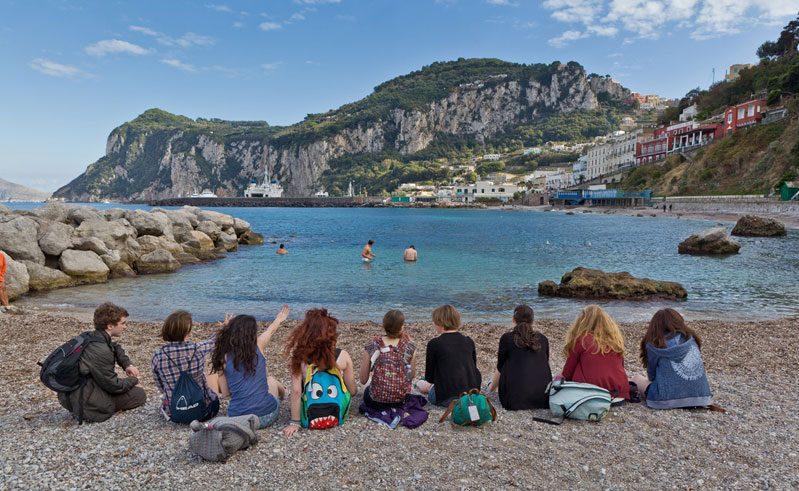 italy naples isle of capri school trip rth
