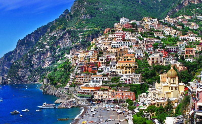 italy positano amalfi hills
