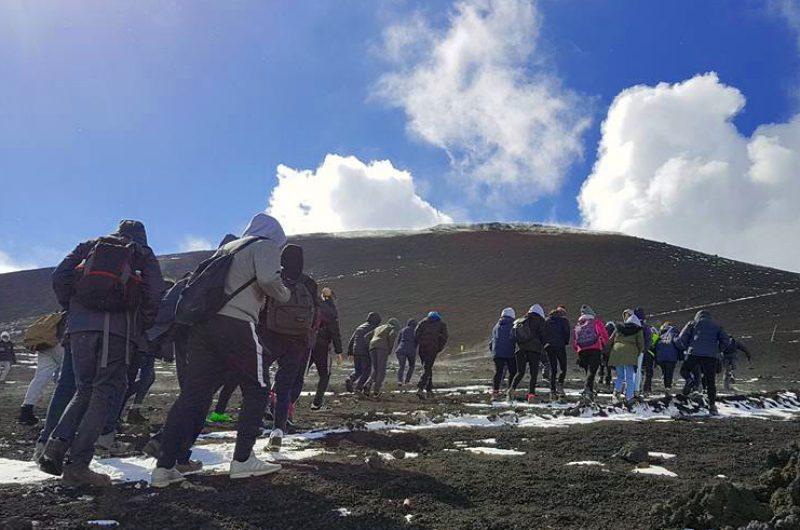 italy sicily etna hiking