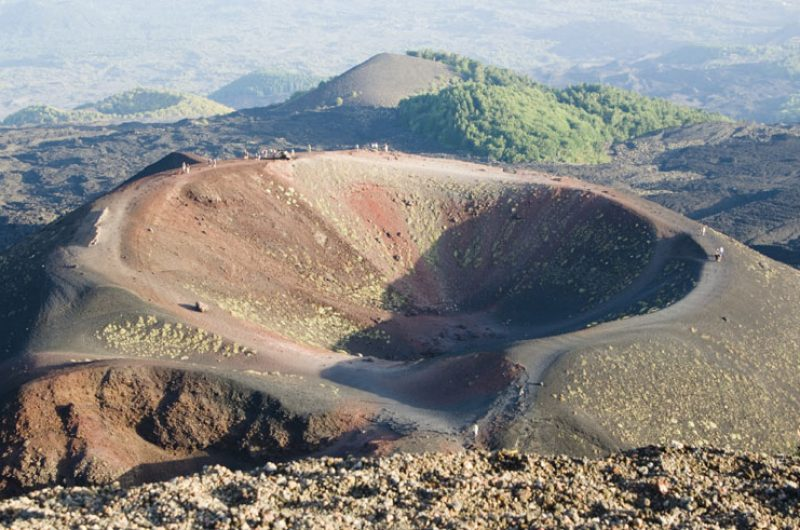 italy sicily mt etna caldera