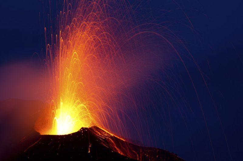 italy sicily mt etna lava eruption istock