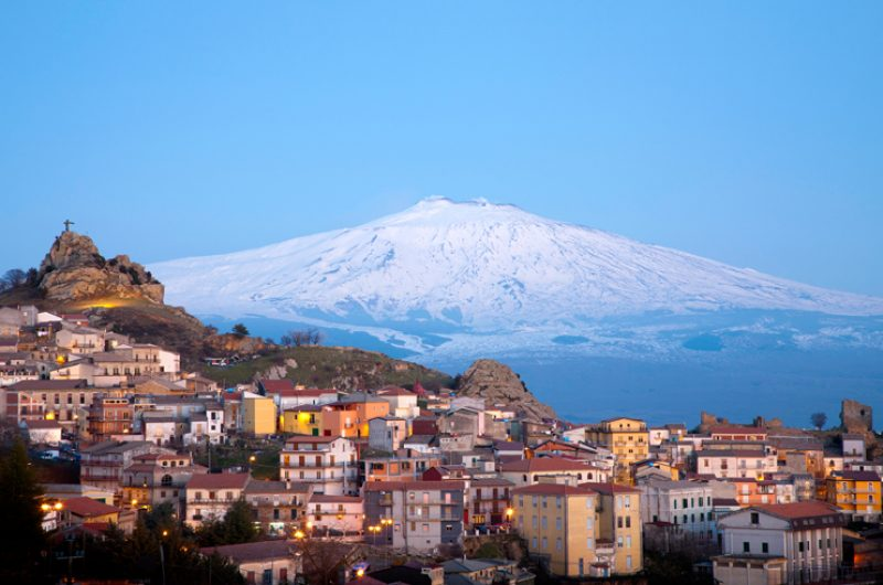 italy sicily mt etna view