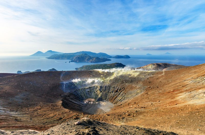 italy sicily volcano crater