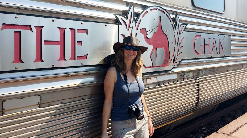 liz and the ghan train australia