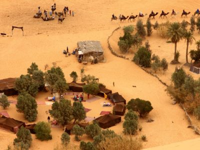morocco berber camp from above istock