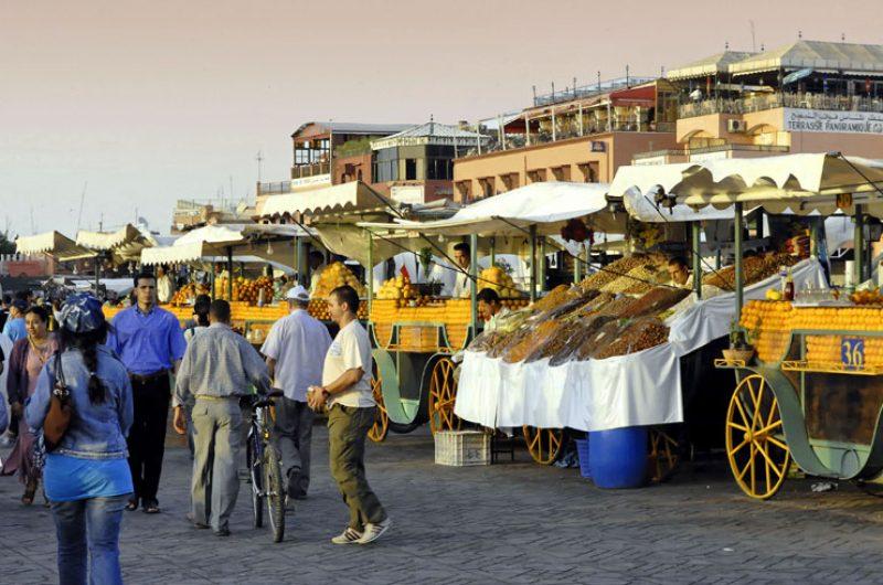 morocco marrakech souk stalls ct