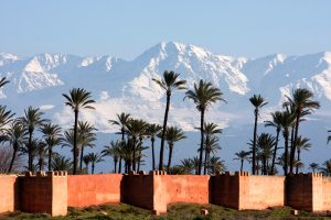 morocco marrkech walled city view istk
