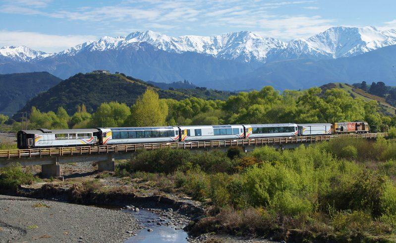 new zealand coastal pacific rail journey kahutara river