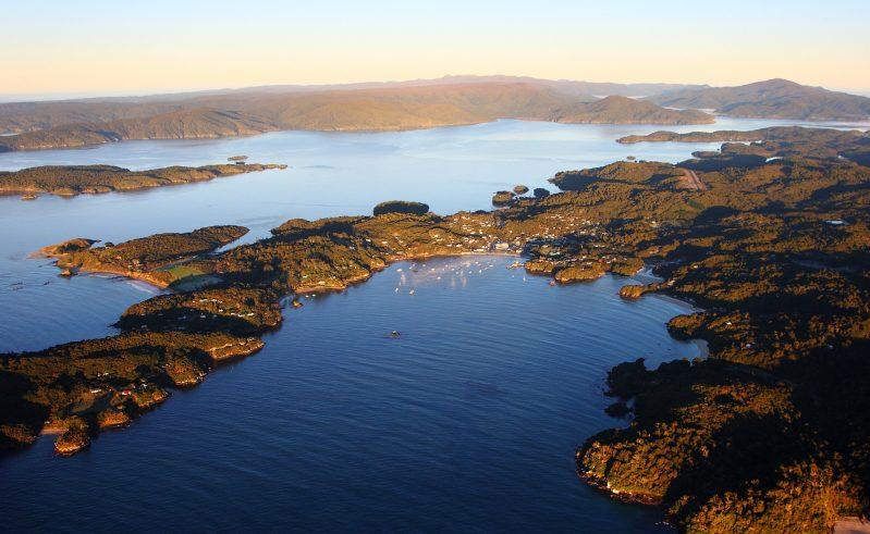 new zealand stewart island rakiura national park aerial view tnz