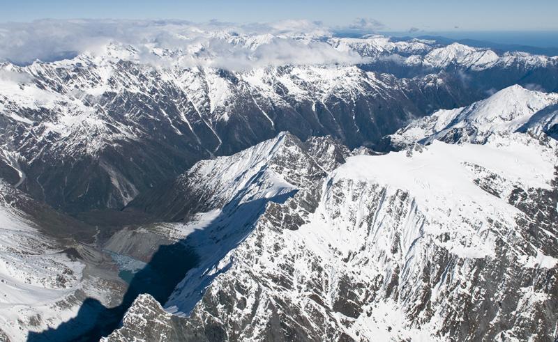 new zealand west coast aerial view over fox glacier twc