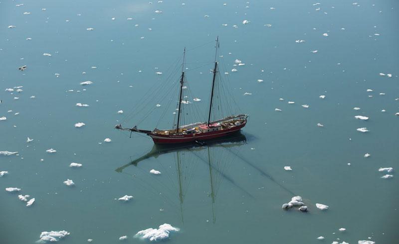 noorderlicht sailing amongst icebergs oc