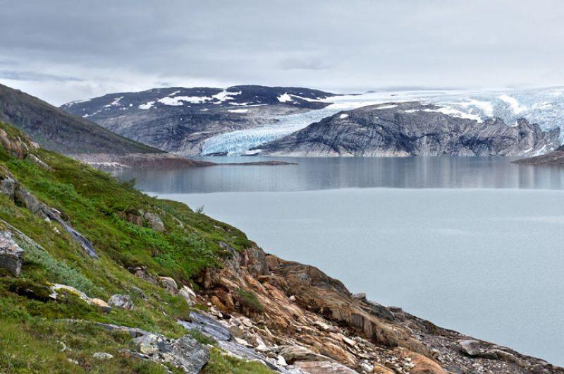 norway glacier and river ap