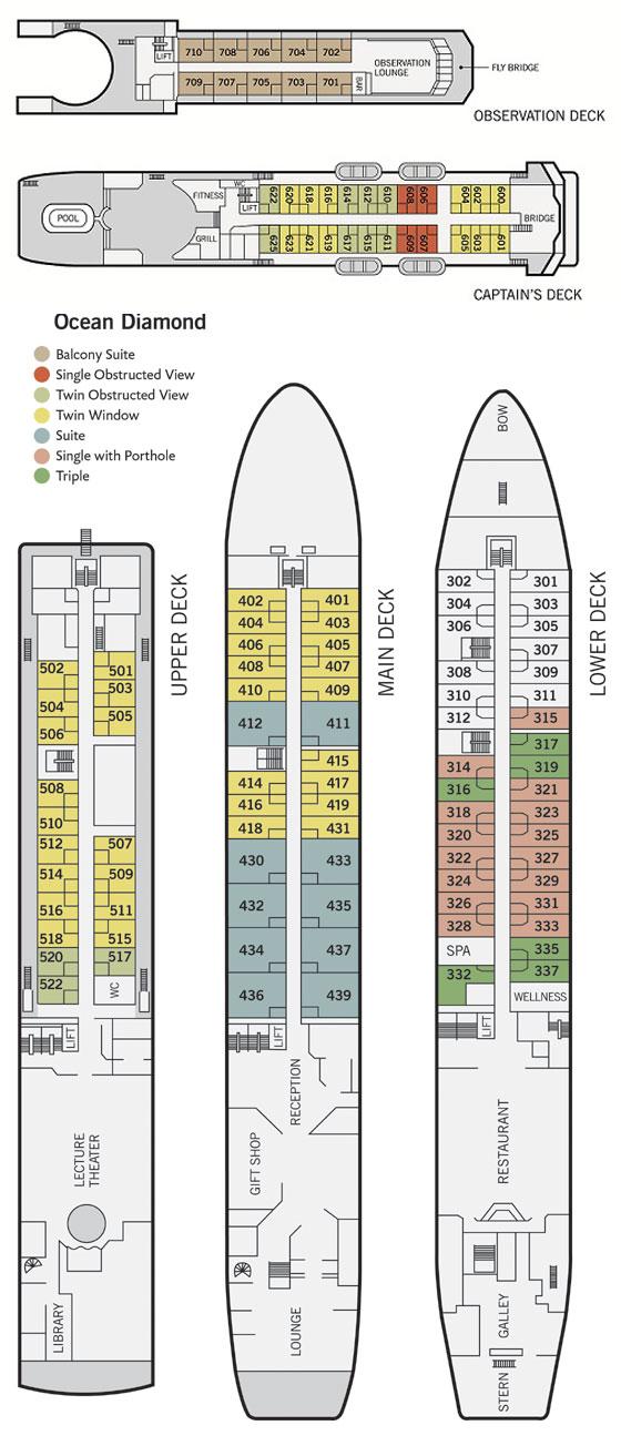 ocean diamond deck plan