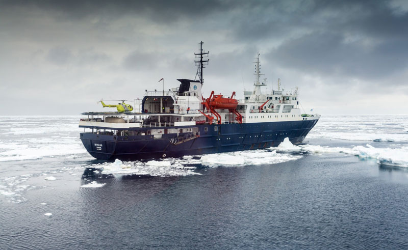 ortelius ship exterior with helicopter landing pad