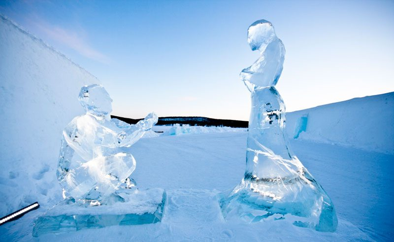 small couple in ice by AnnaSofia Mg Photo Martin Smedsen