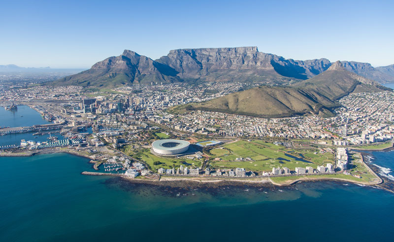 south africa cape town aerial view nac helicopters