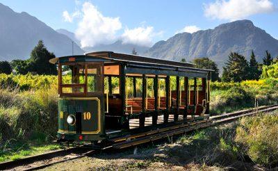 south africa winelands wine tour tram