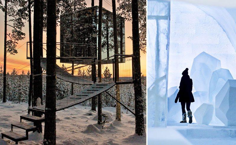 sweden icehotel treehotel