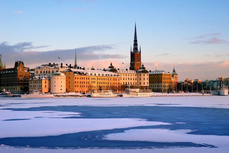 sweden stockholm gamla stan winter view istk