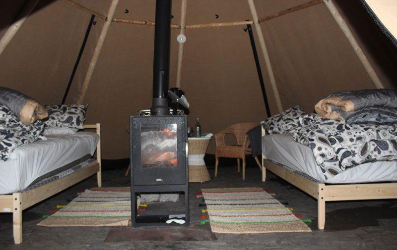 sweden swedish lapland sapmi nature camp lavvu am