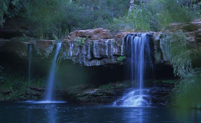 wa karijini national park fern waterfall