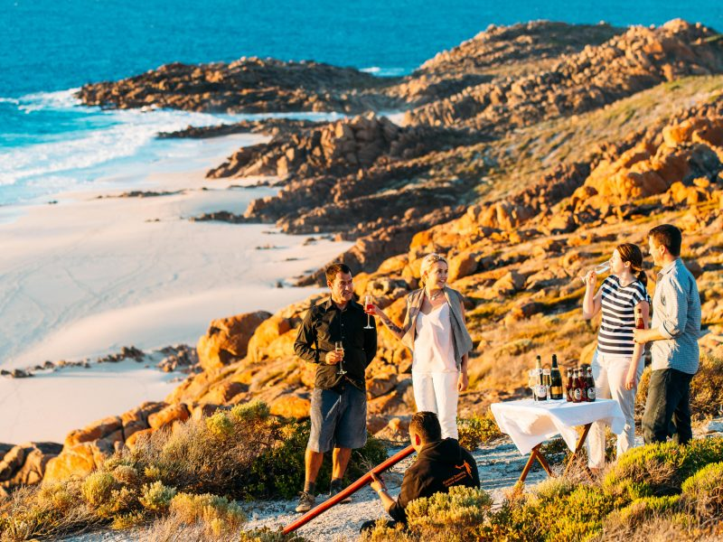 western australia margaret river walk into luxury didgeridoo clifftop drinks elmnts