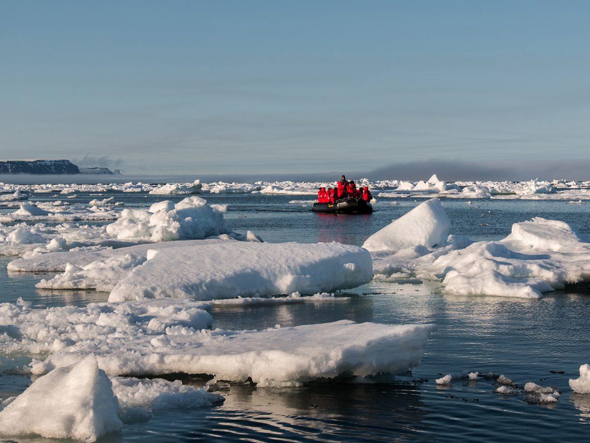 arctic franz josef land lone zodiac through the ice psdn jzaccaria