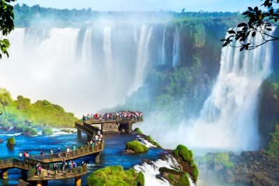 argentina iguasu falls devils thraot lookout brazil side istk