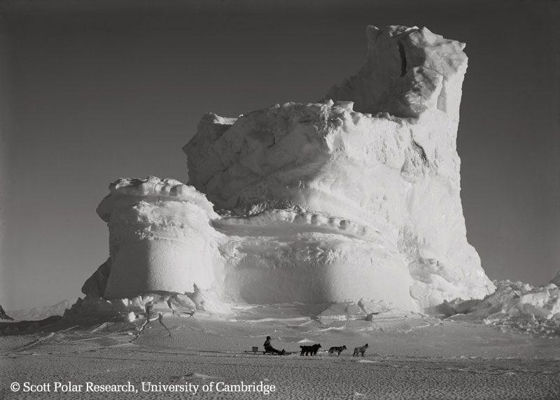 castle berg with dog sledge