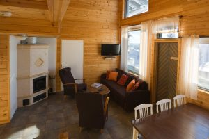 finnish lapland iso syote fjelltop cottage interior