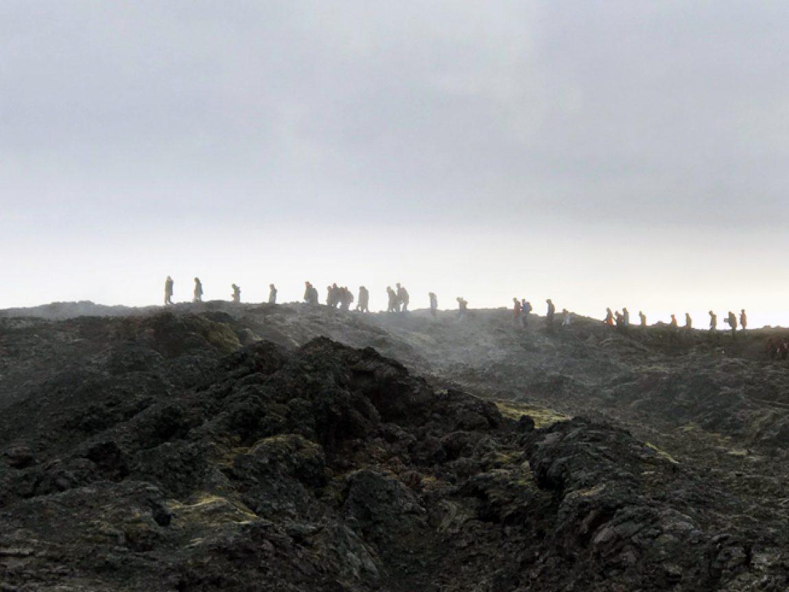 iceland leirhnjukur volcano students