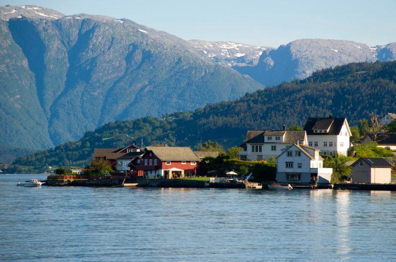 norway village in hardangerfjord istk