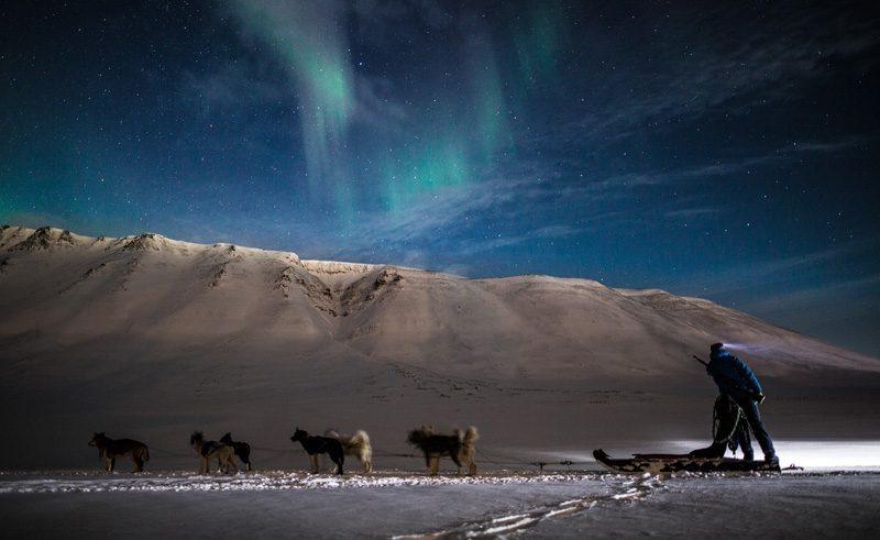 svalbard aurora husky sledding htgrtn