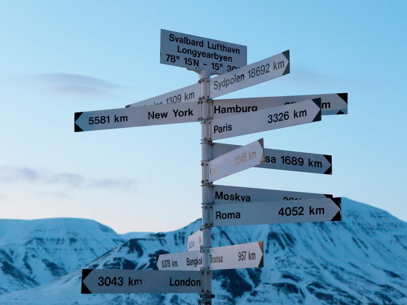 svalbard longyearbyen signpost adstk