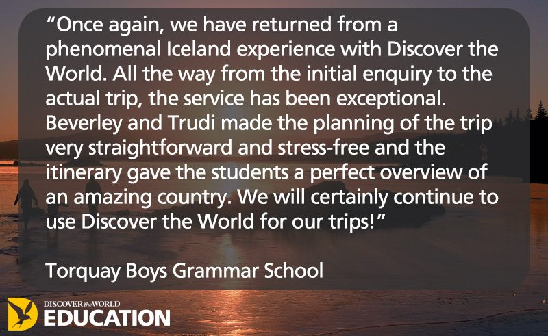 testamonial iceland 2017 torquay boys grammar school